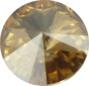 Swarovski Elements SS29 (6.14 - 6.32 mm) Rivoli Crystal Golden Shadow