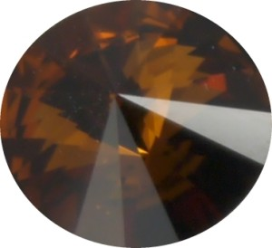 Swarovski Elements SS29 (6.14 - 6.32 mm) Rivoli Smoked Topaz